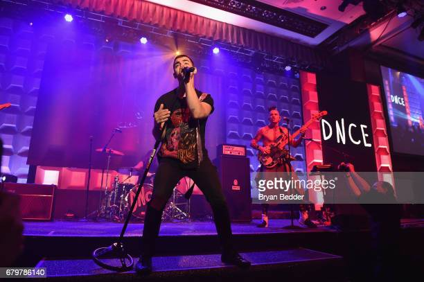 DNCE performs on stage at 28th Annual GLAAD Media Awards at The Hilton Midtown on May 6 2017 in New York City