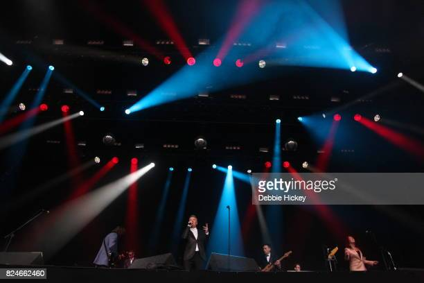 ABC performs on stage during Punchestown Music Festival at Punchestown Racecourse on July 30 2017 in Naas Ireland
