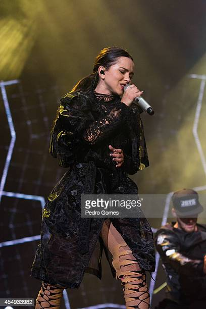 INNA performs on stage for GNC Festival at ITU Stadiumu on September 7 2014 in Istanbul Turkey