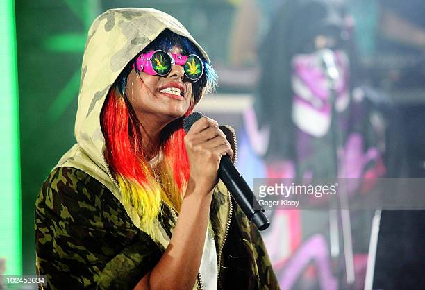 A performs onstage as part of VICE Intel's The Creator Project at Milk Studios on June 26 2010 in New York City