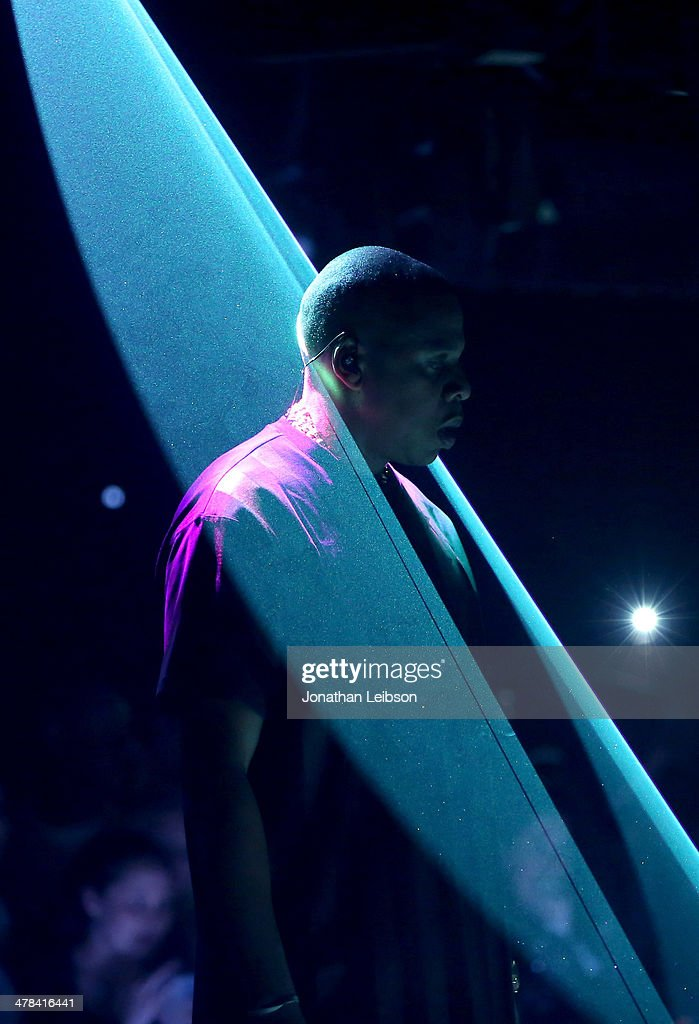 Z performs onstage as Samsung Galaxy presents JAY Z and Kanye West at SXSW on March 12 2014 in Austin Texas