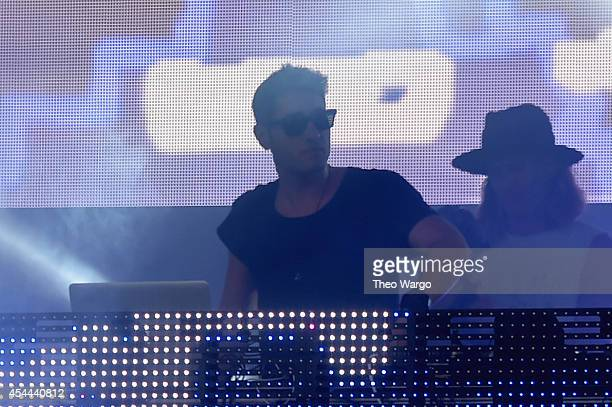DJ 3LAU performs onstage at the 2014 Budweiser Made In America Festival at Benjamin Franklin Parkway on August 30 2014 in Philadelphia Pennsylvania