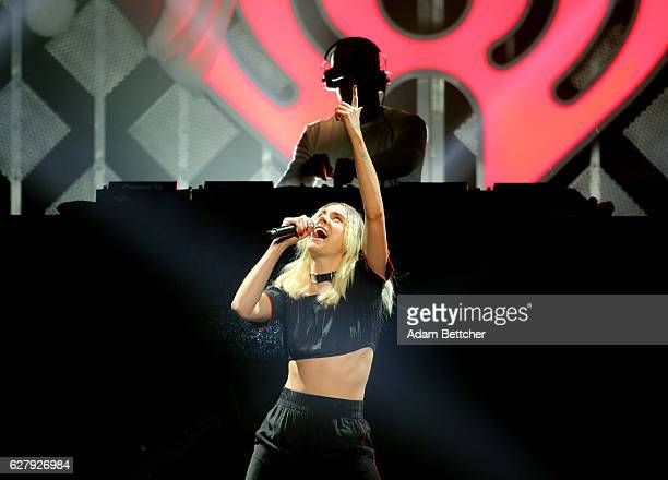 MØ performs onstage during 1013 KDWB's Jingle Ball 2016 presented by Capital One at Xcel Energy Center on December 5 2016 in St Paul Minnesota