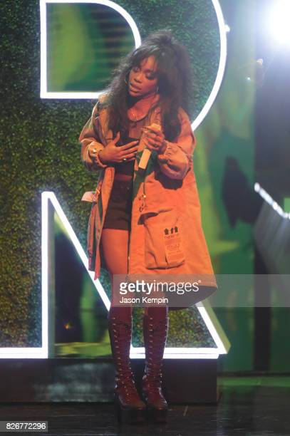 SZA performs onstage during Black Girls Rock 2017 at NJPAC on August 5 2017 in Newark New Jersey