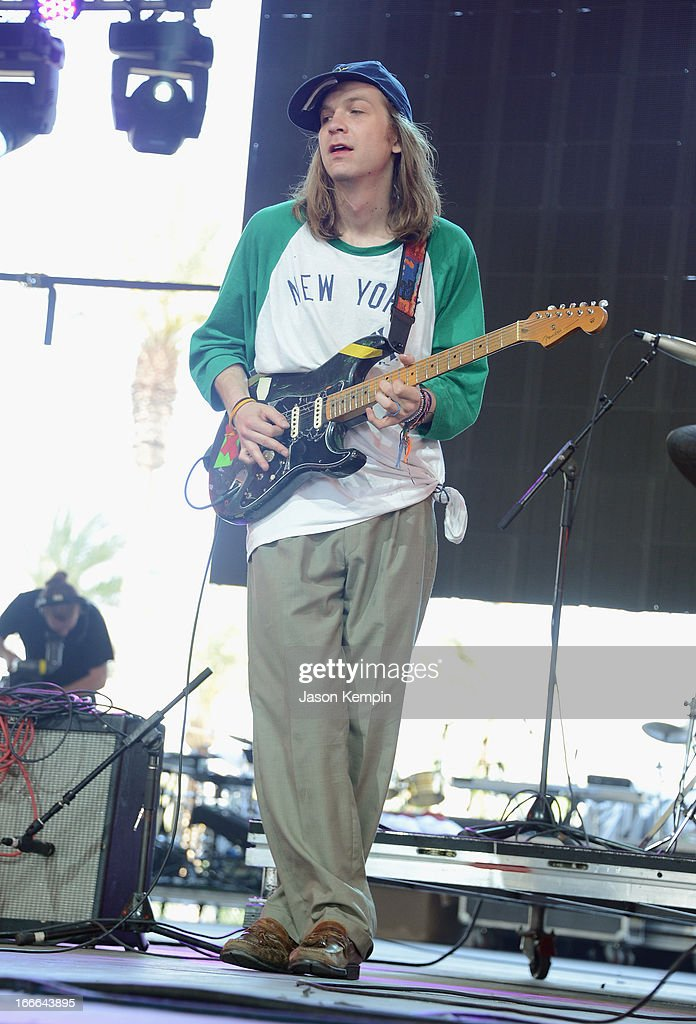 DIIV performs onstage during day 3 of the 2013 Coachella Valley Music And Arts Festival at The Empire Polo Club on April 14 2013 in Indio California