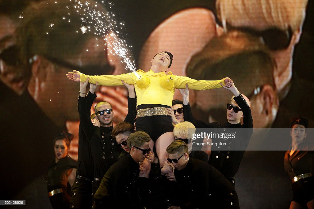 PSY performs onstage during the 'All Night Stand 2015' on December 24, 2015 in Seoul, South Korea.