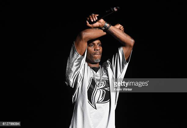 DMX performs onstage during the Bad Boy Family Reunion Tour at The Forum on October 4 2016 in Inglewood California