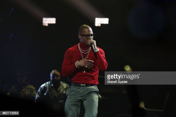 TI performs Tidal X Brooklyn at Barclays Center on October 17 2017 in the Brooklyn borough of New York City New York