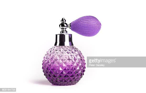 Perfume atomiser with copy space