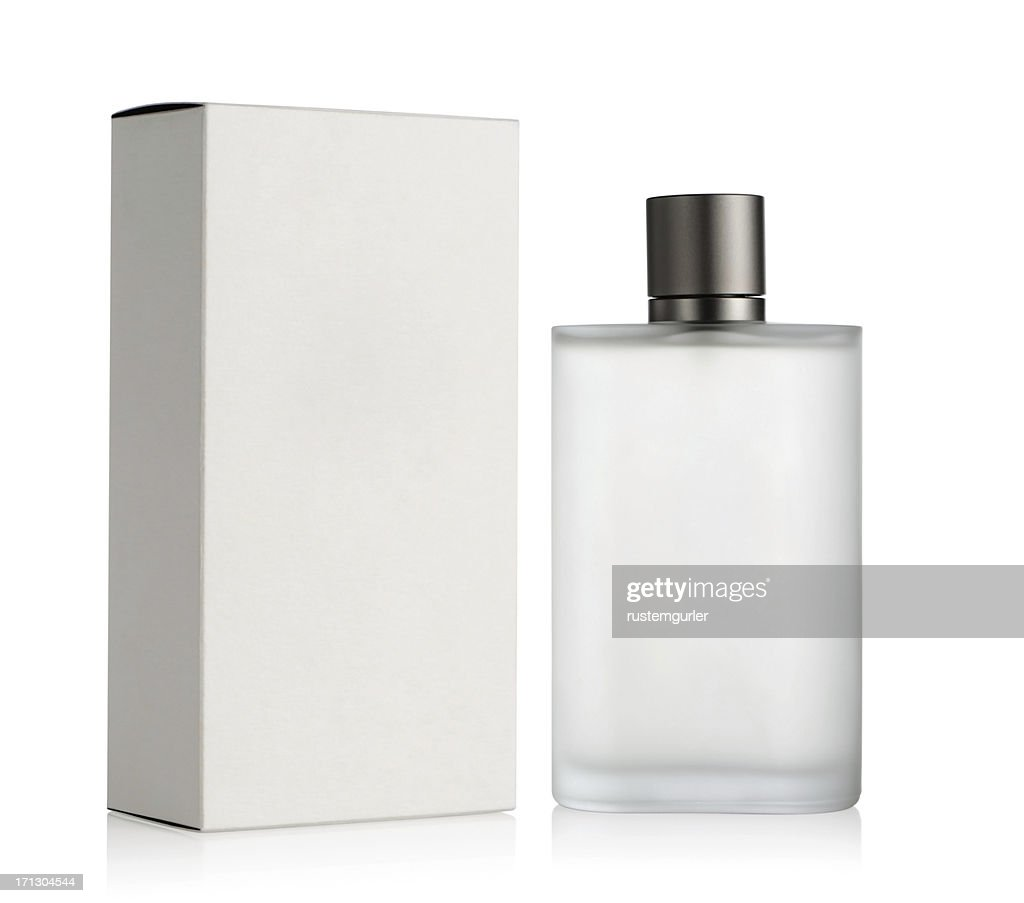 Perfume bottle and box