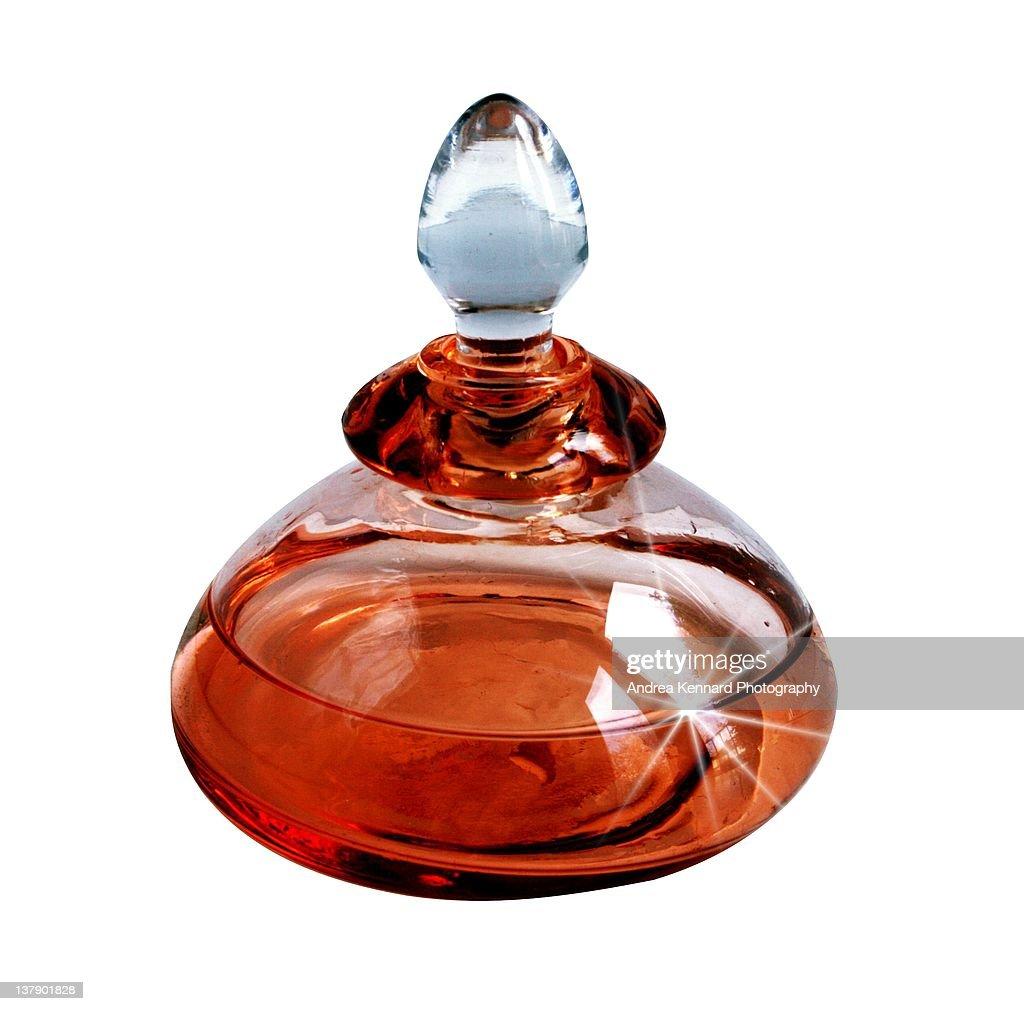 Perfume bottle flare : Stock Photo
