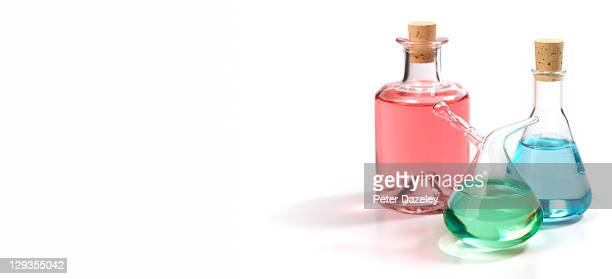 Perfume bottles with copy space
