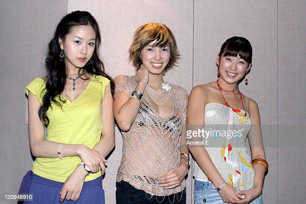Perfume during Perfume Television Interview Session at ANA Hotel in Tokyo Japan