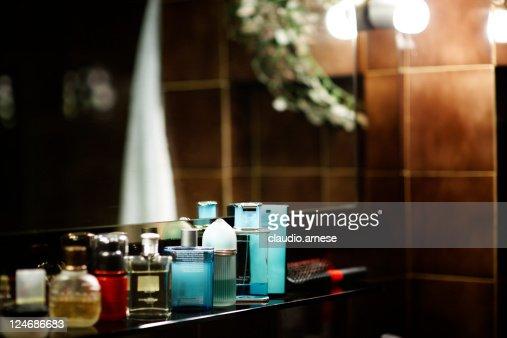 Perfume in a Bathroom. Color Image