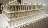 Pergamon Altar Built by order of Eumenes II Soter 164156 BC by artists of the school of Pergamon Marble and limestone Model Pergamon Museum Berlin...