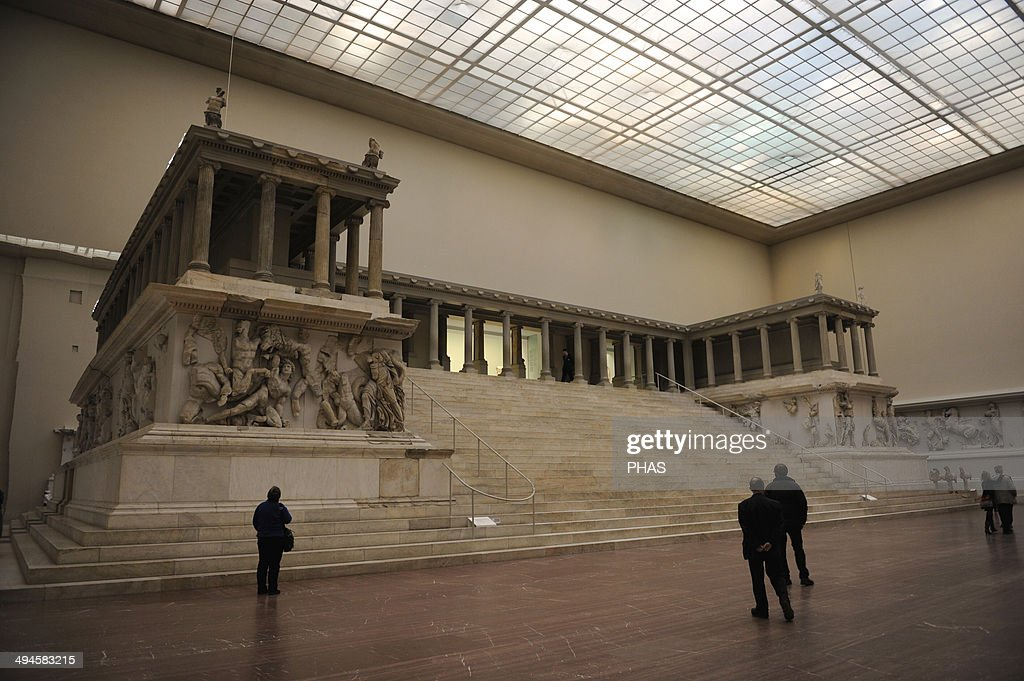 Pergamon Altar Built by order of Eumenes II Soter 164156 BC by artists of the school of Pergamon Marble and limestone First Gigantomachy West frieze...