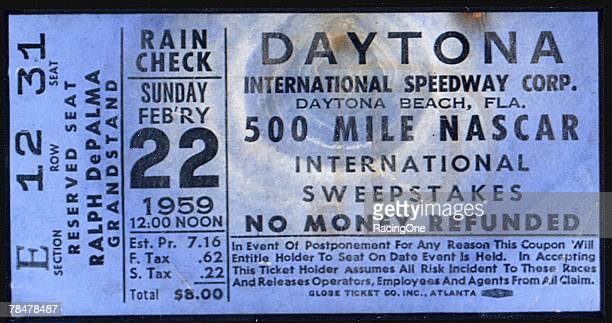 Perhaps Bill France Sr's greatest legacy is the Daytona International Speedway The $500 Reserved Seat ticket bought a seat in the Ralph DePalma...