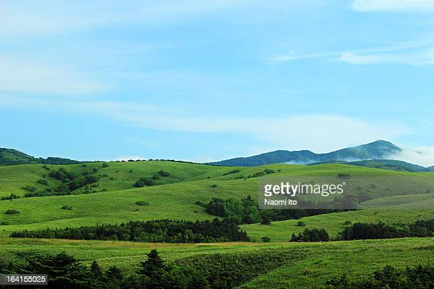 periglacial landform and blue sky