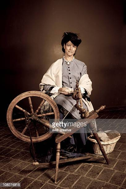 Zeitraum Pioneer Frau Spinning-Garn