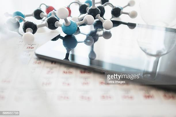 Periodic table on desk
