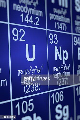 Periodic table uranium stock photo getty images periodic table uranium stock photo urtaz Image collections