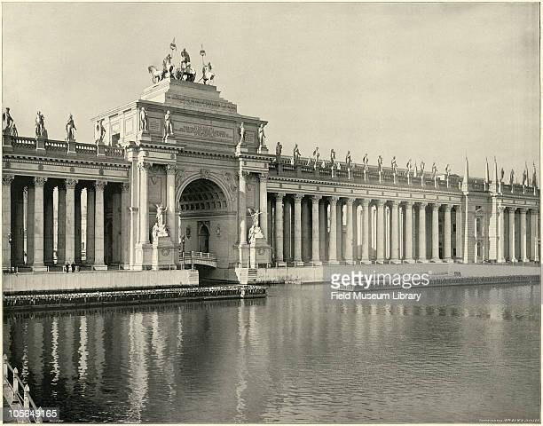 Peristyle from the Lake Grand Basin Large photographic print from 'The White City World's Columbian Exposition 1893'Chicago Illinois June 1 1893