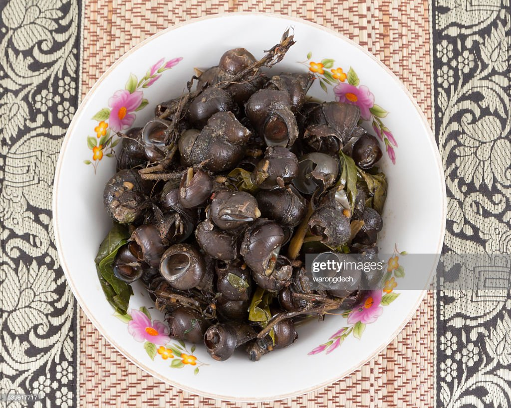Periwinkle Curry,Local Foods of Thailand : Stock Photo
