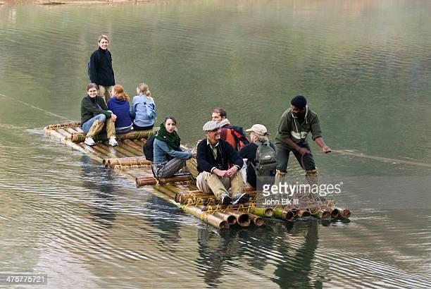 Periyar National Park, visitors on raft