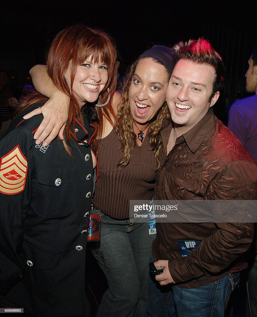 Perla Ferrar and Steve Lockwood attend a Velvet Revolver after party at JET Nightclub at The Mirage Hotel and Casino on September 21, 2007 in Las Vegas, Nevada.