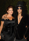 Perla Ferrer and musician Slash arrives at the 2007 Spike TV Scream Awards at The Greek Theater on October 19 2007 in Los Angeles California
