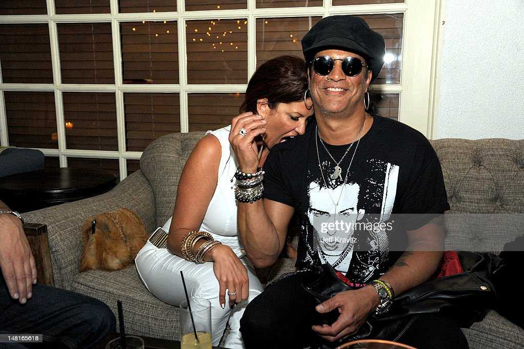 Perla Hudson and Slash atttend the official after party for Slahs's Hollywood Walk Of Fame star ceremony at Fairmont Miramar Hotel on July 10, 2012 in Santa Monica, California.