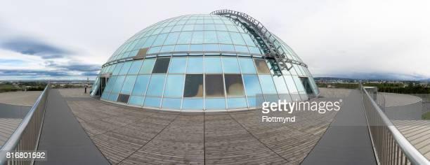 Perlan dome, panorama view, Reykjavik, Iceland