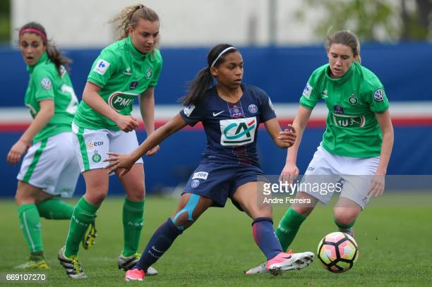 Perle Morroni of PSG during the women's National Cup match between Paris Saint Germain PSG and AS Saint Etienne at Camp des Loges on April 16 2017 in...