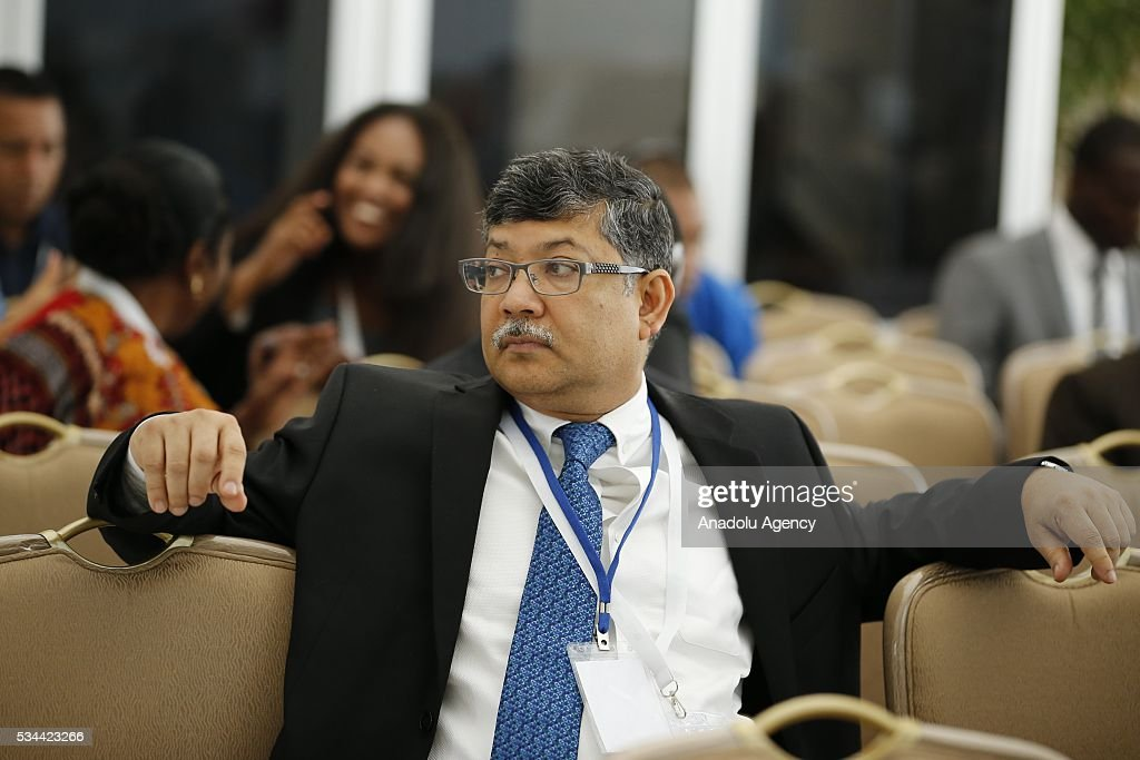 Permanent Representative of Bangladesh to the United Nations Masud Bin Momen attends a Civil Society Forum within Midterm Review of the Istanbul Programme of Action at the Titanic Hotel in Antalya, Turkey on May 26, 2016. The Midterm Review conference for the Istanbul Programme of Action for the Least Developed Countries will take place in Antalya, Turkey from 27-29 May 2016. The conference will undertake a comprehensive review of the implementation of the Istanbul Programme of Action by the least developed countries (LDCs) and their development partners and likewise reaffirm the global commitment to address the special needs of the LDCs.