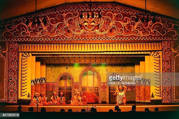Permanent Wayang Kulit theatre Taman Sriwedari Surakarta Java Indonesia