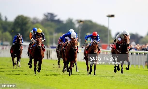 Permian ridden by jockey Franny Norton on the way to winning the Betfred Dante Stakes during day two of the Dante Festival at York Racecourse