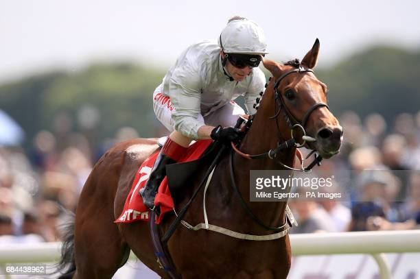 Permian ridden by jockey Franny Norton wins the Betfred Dante Stakes during day two of the Dante Festival at York Racecourse