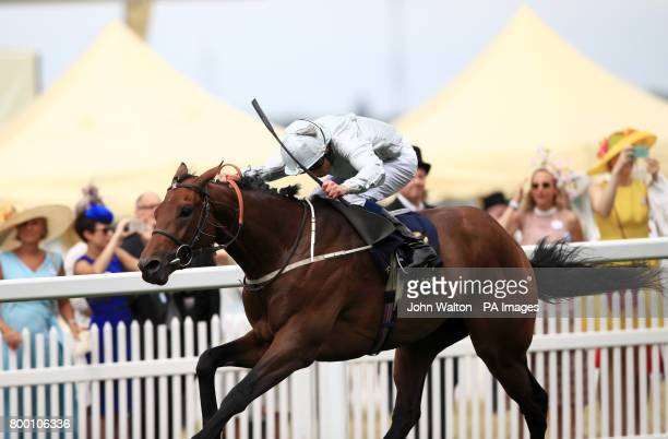Permian ridden by Jockey William Buick wins the King Edward VII Stakes during day four of Royal Ascot at Ascot Racecourse