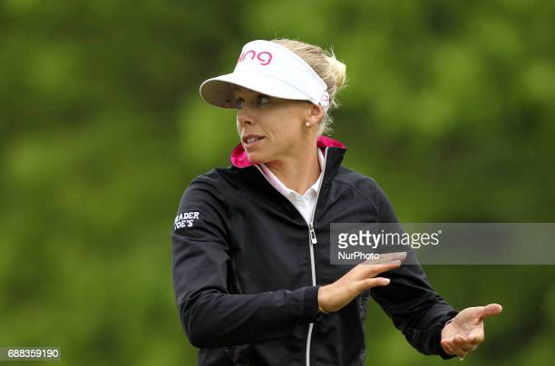 Pernilla Lindberg of Sweden walks on the second hole during the first round of the LPGA Volvik Championship at Travis Pointe Country Club Ann Arbor...