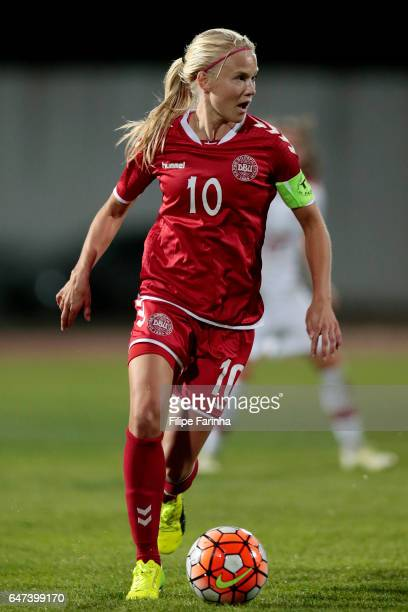 Pernille Harder of Denmark in action during the Algarve Cup Tournament Match between Denmark Women and Canada W on March 1 2017 in Lagos Portugal