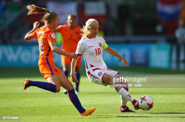 Pernille Harder of Denmark Women during the UEFA Women's Euro 2017 final match between Denmark and Netherlands at De Grolsch Veste Stadium on August...