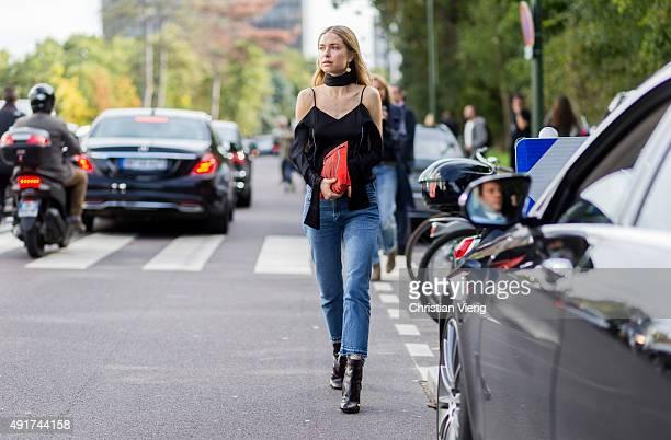 Pernille Teisbaek at Louis Vuitton during the Paris Fashion Week Womenswear Spring/Summer 2016 on Oktober 7 2015 in Paris France