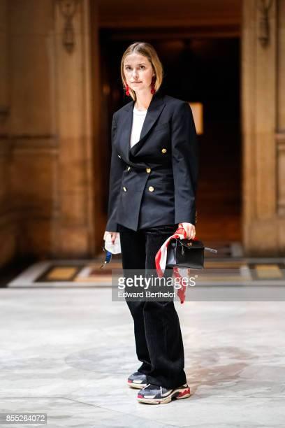 Pernille Teisbaek attends the Balmain show as part of the Paris Fashion Week Womenswear Spring/Summer 2018 on September 28 2017 in Paris France