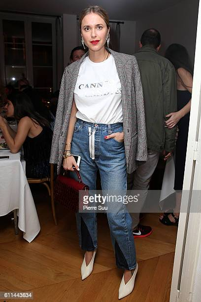 Pernille Teisbaek attends the Jeweller Sophie Bille Brahe Dinner Party as part of the Paris Fashion Week Womenswear Spring/Summer 2017 on September...