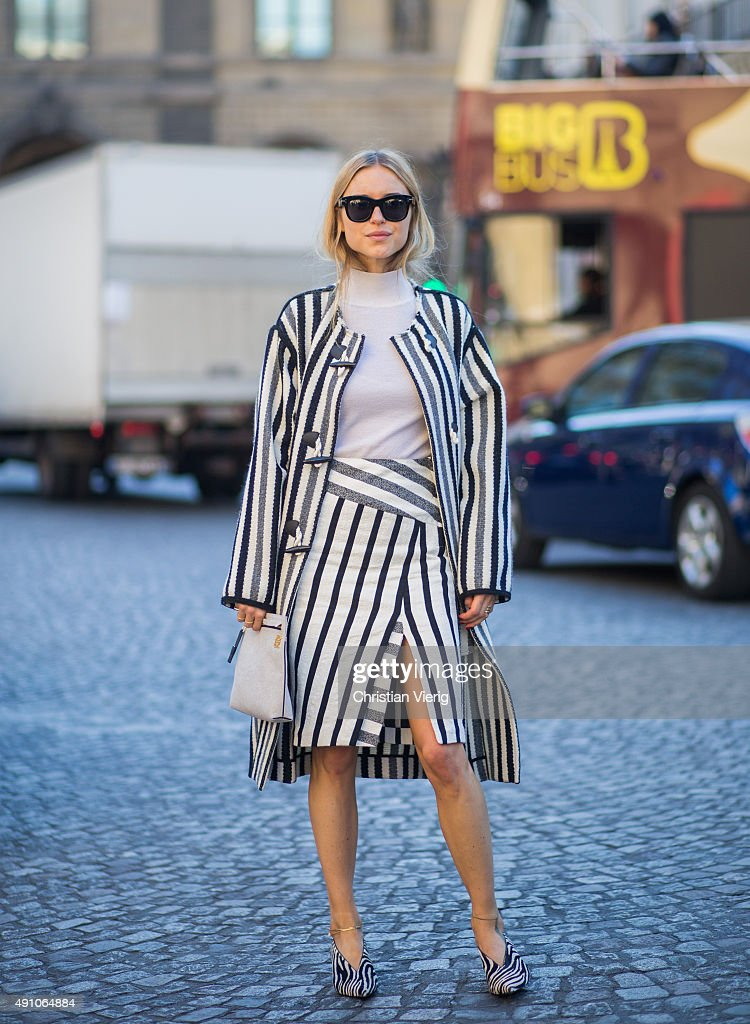 Pernille Teisbaek during the Paris Fashion Week Womenswear Spring/Summer 2016 on October 2 2015 in Paris France