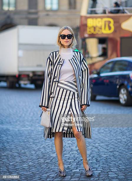 Pernille Teisbaek during the Paris Fashion Week Womenswear Spring/Summer 2016 on October 2 2015 in Paris France