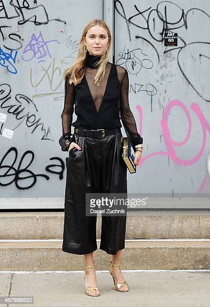 Pernille Teisbaek is seen outside the Altuzarra show during New York Fashion Week 2016 on September 12 2015 in New York City