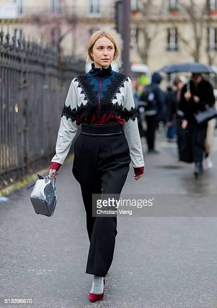 Pernille Teisbaek outside Dries van Noten during the Paris Fashion Week Womenswear Fall/Winter 2016/2017 on March 2 2016 in Paris France