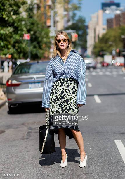 Pernille Teisbaek outside Proenza Schouler on September 12 2016 in New York City