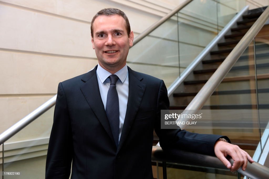 Pernod Ricard group's managing director, Alexandre Ricard, poses before a press conference to present the results for the 2012-2013 financial year, on August 29, 2013 in Paris. Pernod Ricard, the world No. 2 maker of wine and distilled spirits, on Thursday met its targets by posting a 3.0-percent rise in full-year net profits. AFP PHOTO BERTRAND GUAY